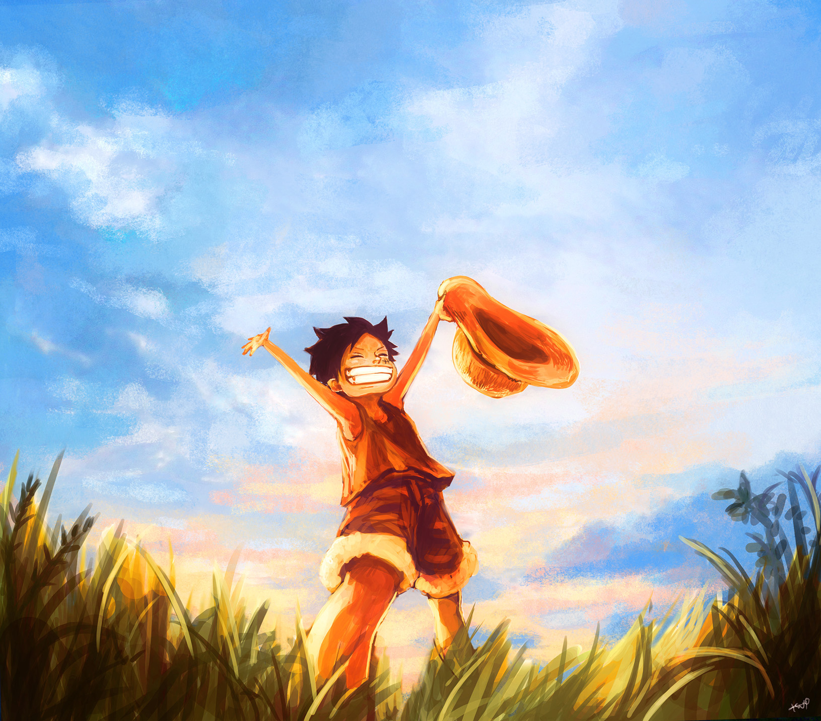 Awesome Wallpaper! Luffy's Childhood : OnePiece