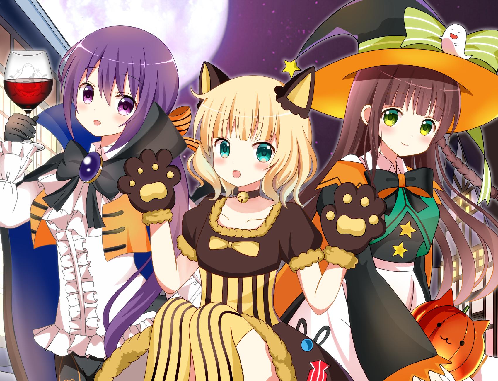 Halloween is early. [Gochuumon wa Usagi Desu ka?]  awwnime