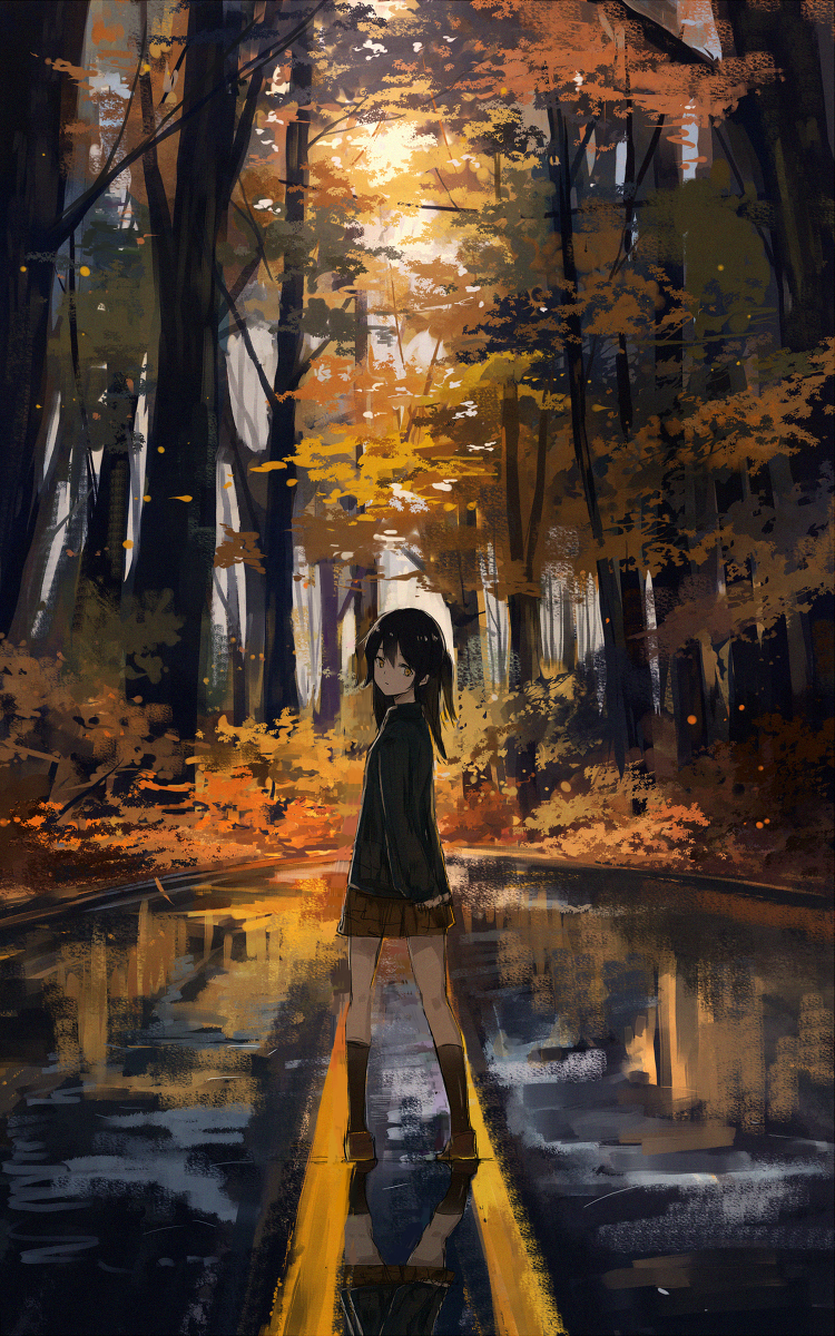 Forest of Autumn Trees [Original] : Moescape