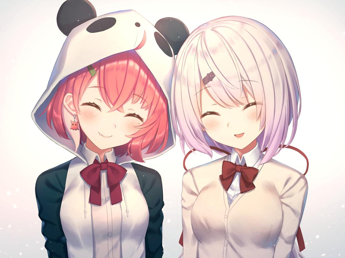 Saku and Yuika. [Nijisanji]