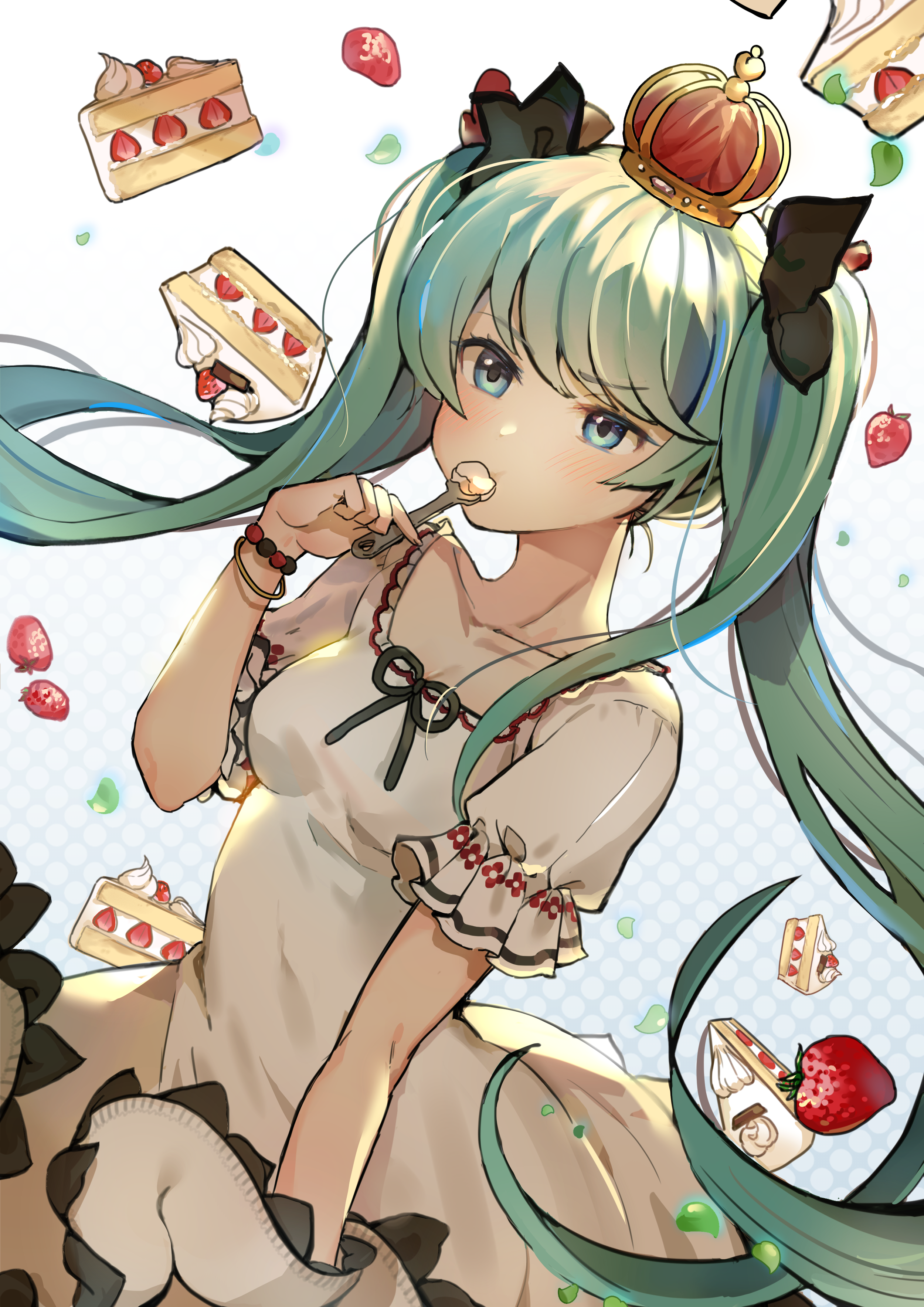 Miku loves sweets. [Vocaloid]