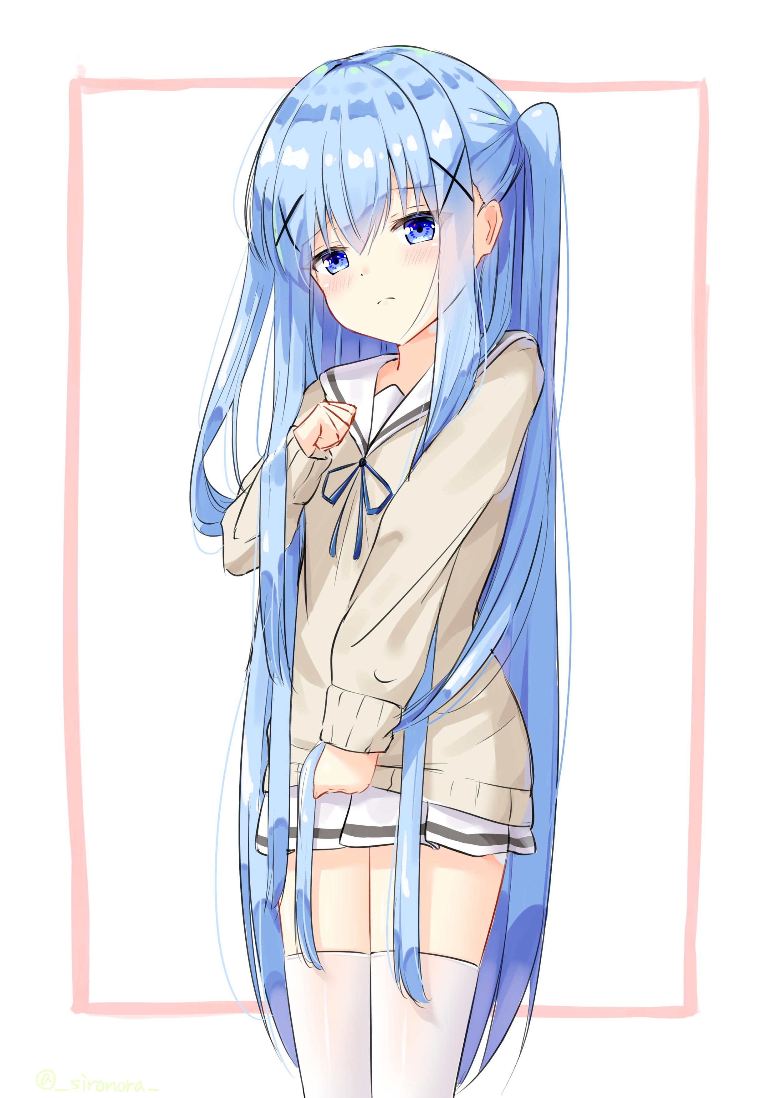 long-haired chino-chan [Gochuumon wa Usagi Desu ka?]