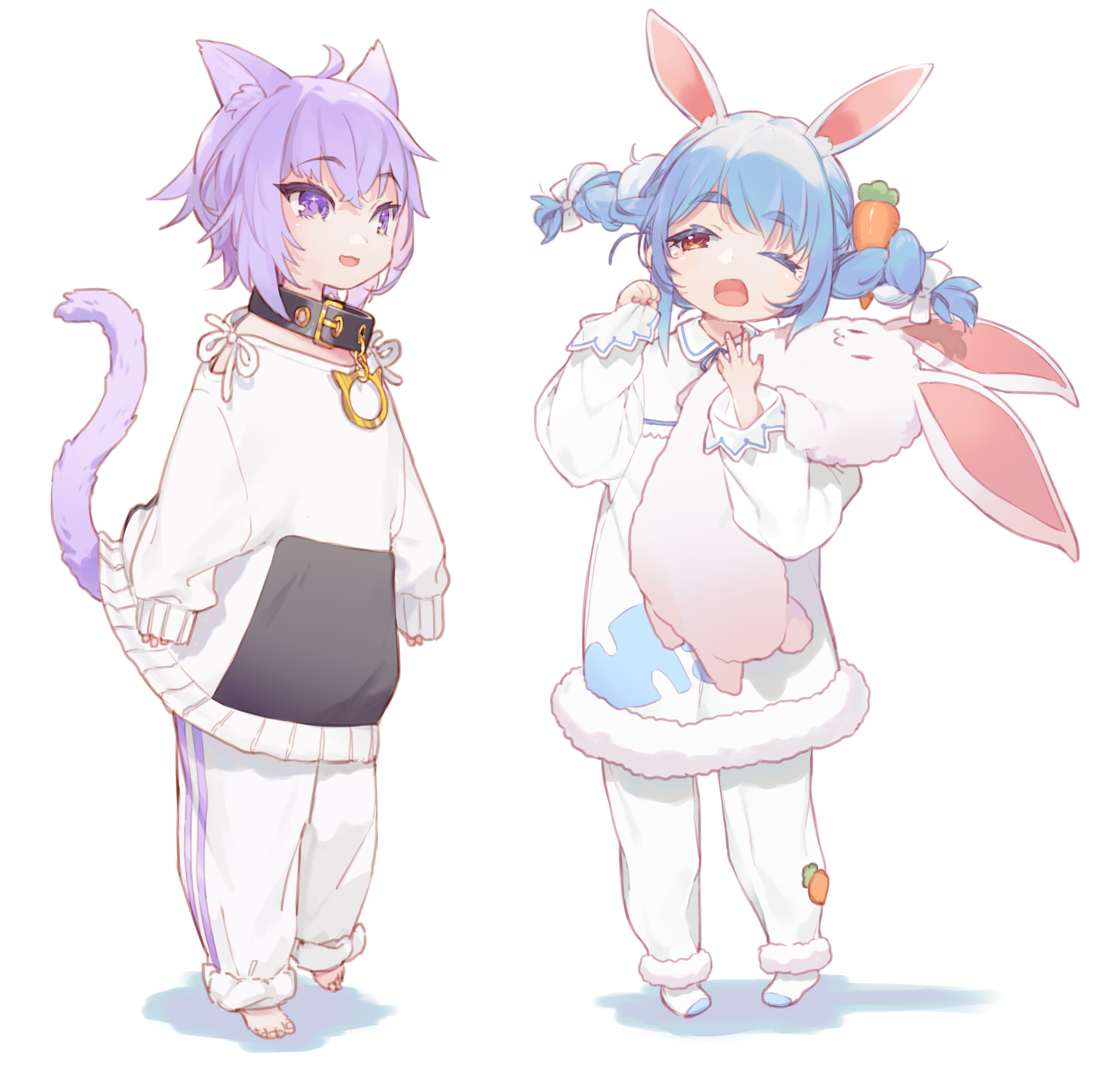 Little Okayu and Pekora [Hololive]