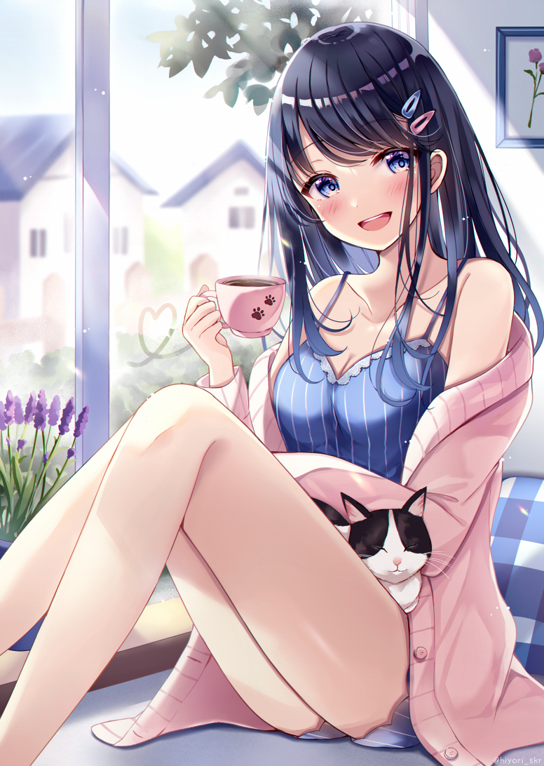 Relaxing with kitty [Original]