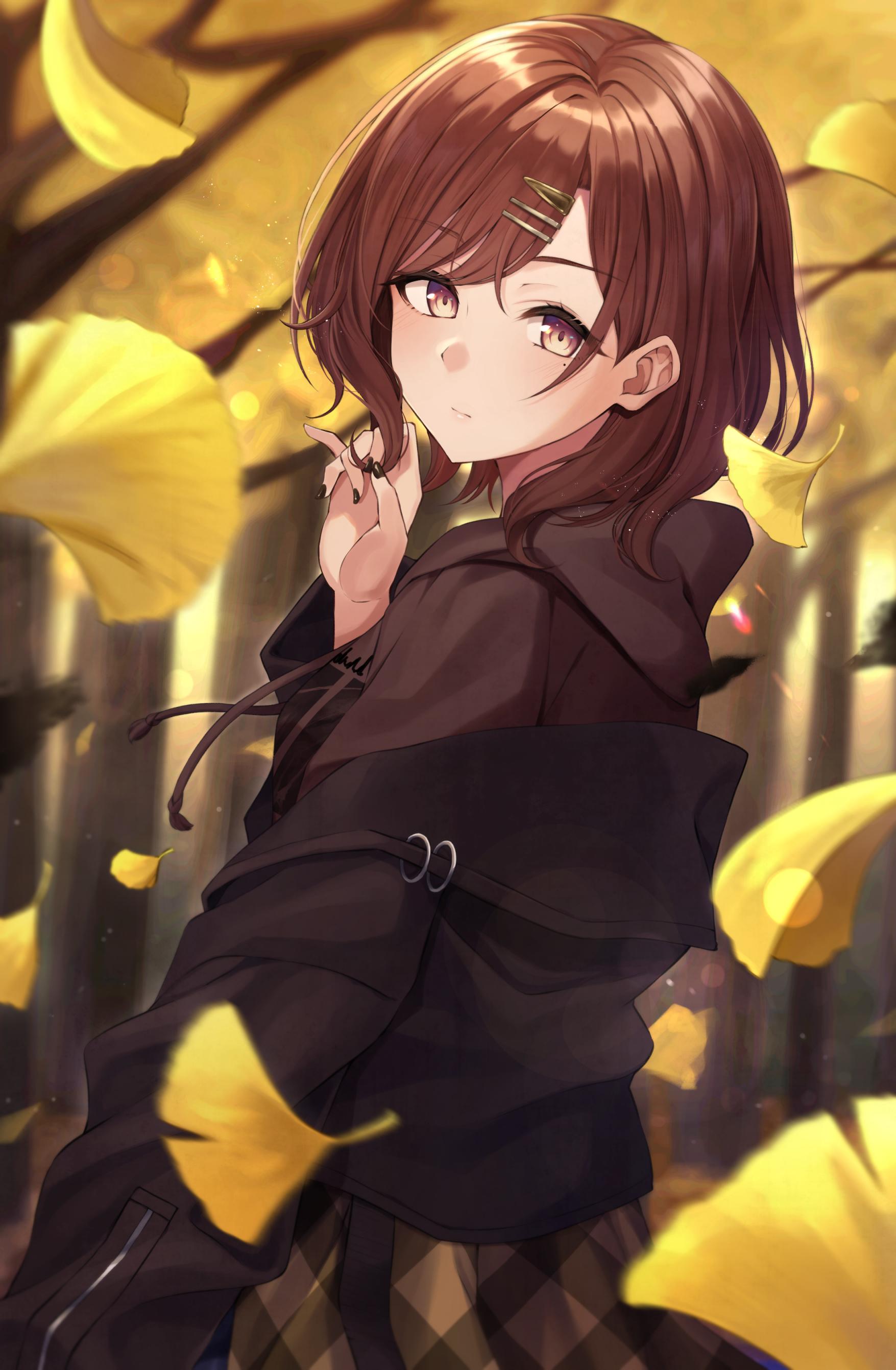 Madoka in the ginkgo. [Idolmaster Shiny Colors]