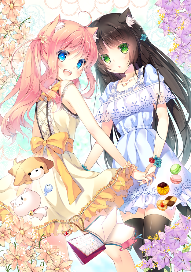 Just two catgirls together [Original] : awwnime