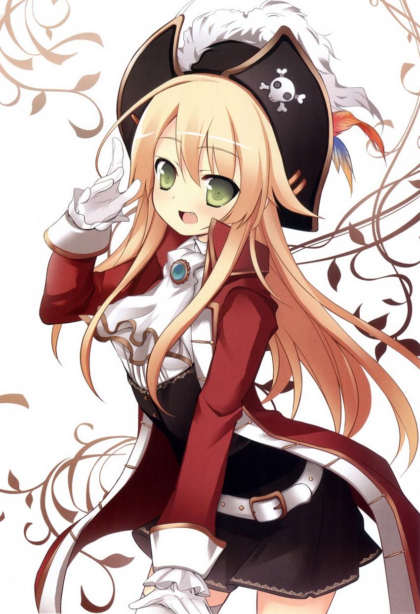 Cute anime pirate girl